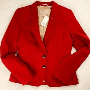 Banana Republic Blazer Suit Jacket Red Crepe 2 NWT